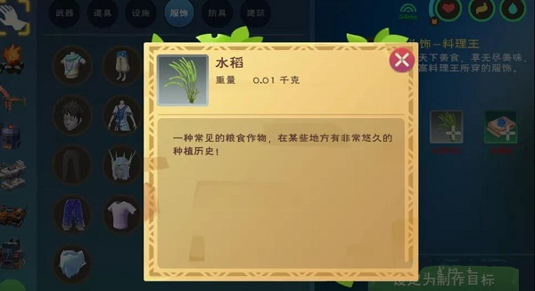《创造与魔法》水稻获得方法